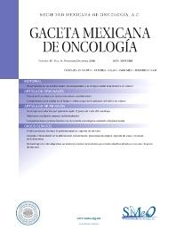 Cover image for Gaceta Mexicana de Oncología
