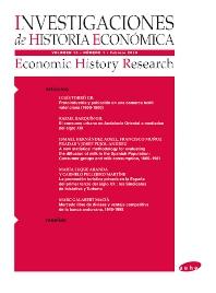 Cover image for Investigaciones de Historia Económica