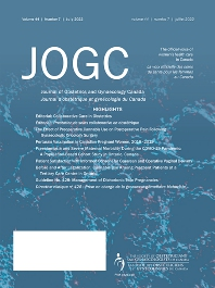 Cover image for Journal of Obstetrics and Gynaecology Canada