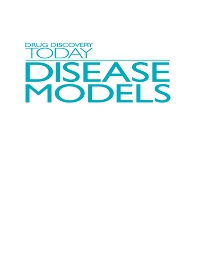 cover of Drug Discovery Today: Disease Models
