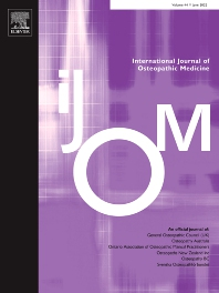 Cover image for International Journal of Osteopathic Medicine
