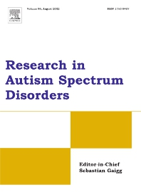 Cover image for Research in Autism Spectrum Disorders