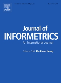 Journal of Informetrics - ISSN 1751-1577