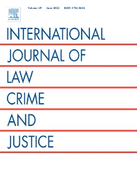 Cover image for International Journal of Law, Crime and Justice