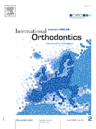 Cover image for International Orthodontics