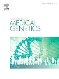 European Journal of Medical Genetics - ISSN 1769-7212