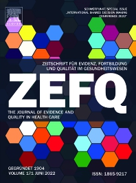 Zeitschrift für Evidenz, Fortbildung und Qualitaet im Gesundheitswesen - ISSN 1865-9217