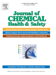Journal of Chemical Health and Safety - ISSN 1871-5532