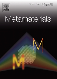 Cover image for Metamaterials