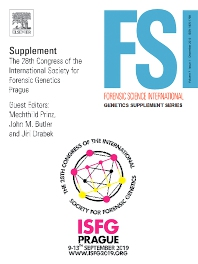 Cover image for Forensic Science International: Genetics Supplement Series