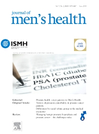 Cover image for Journal of Men's Health