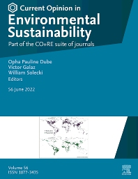 Cover image for Current Opinion in Environmental Sustainability