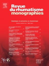 Revue du Rhumatisme monographies - ISSN 1878-6227