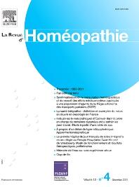 Cover image for La Revue d'Homéopathie