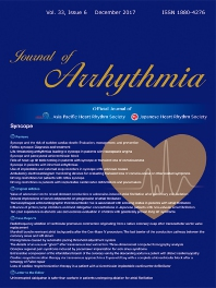 Journal of Arrhythmia - ISSN 1880-4276