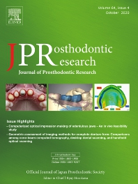 Cover image for Journal of Prosthodontic Research