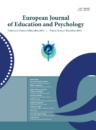 cover of European Journal of Education and Psychology