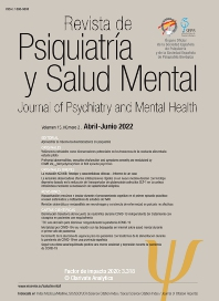 Cover image for Revista de Psiquiatría y Salud Mental