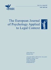 Cover image for The European Journal of Psychology Applied to Legal Context