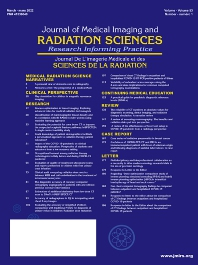 Cover image for Journal of Medical Imaging and Radiation Sciences