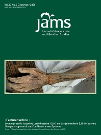 Cover image for Journal of Acupuncture and Meridian Studies