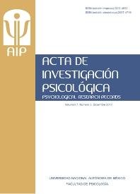 Cover image for Acta de Investigación Psicológica