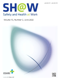Cover image for Safety and Health at Work