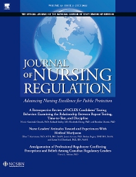 Cover image for Journal of Nursing Regulation