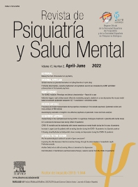 Cover image for Revista de Psiquiatría y Salud Mental (English Edition)