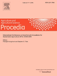 Cover image for Agriculture and Agricultural Science Procedia