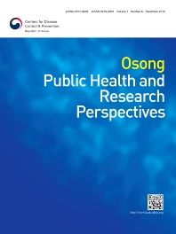 Osong Public Health and Research Perspectives - ISSN 2210-9099