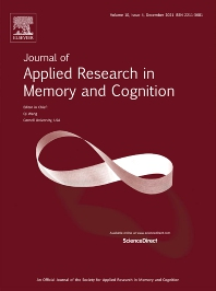 Cover image for Journal of Applied Research in Memory and Cognition
