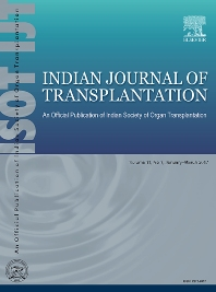 Indian Journal of Transplantation - ISSN 2212-0017