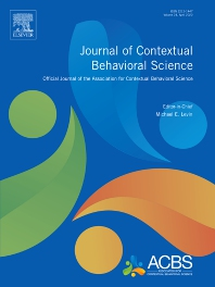Journal of Contextual Behavioral Science - ISSN 2212-1447