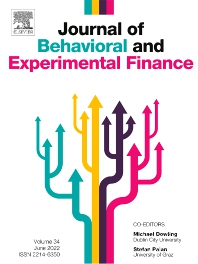Cover image for Journal of Behavioral and Experimental Finance