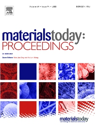 Cover image for Materials Today: Proceedings