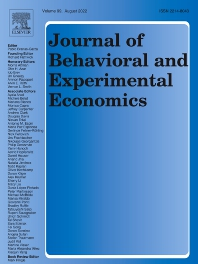 Cover image for Journal of Behavioral and Experimental Economics