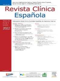 Cover image for Revista Clínica Española (English Edition)