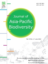 Cover image for Journal of Asia-Pacific Biodiversity