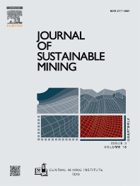 Cover image for Journal of Sustainable Mining