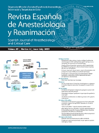 Cover image for Revista Española de Anestesiología y Reanimación (English Edition)