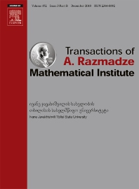 Cover image for Transactions of A. Razmadze Mathematical Institute