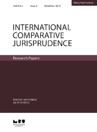 Cover image for International Comparative Jurisprudence