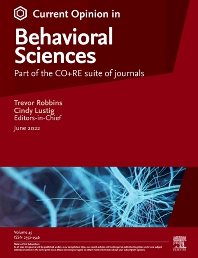 Cover image for Current Opinion in Behavioral Sciences