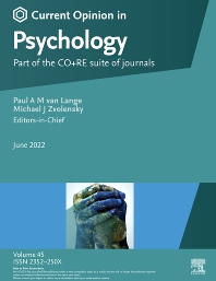 Cover image for Current Opinion in Psychology