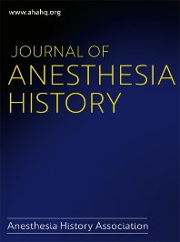 Cover image for Journal of Anesthesia History