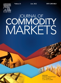 Cover image for Journal of Commodity Markets
