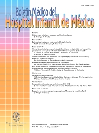 Cover image for Boletín Médico del Hospital Infantil de México (English Edition)