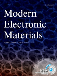 Cover image for Modern Electronic Materials
