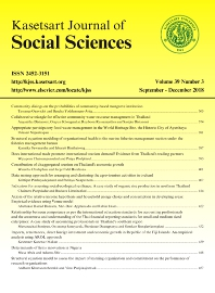 cover of Kasetsart Journal of Social Sciences